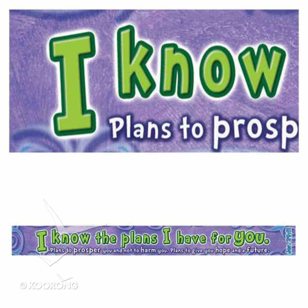 Magnet Strip: I Know the Plans I Have For You... (Jer 29:11) Novelty