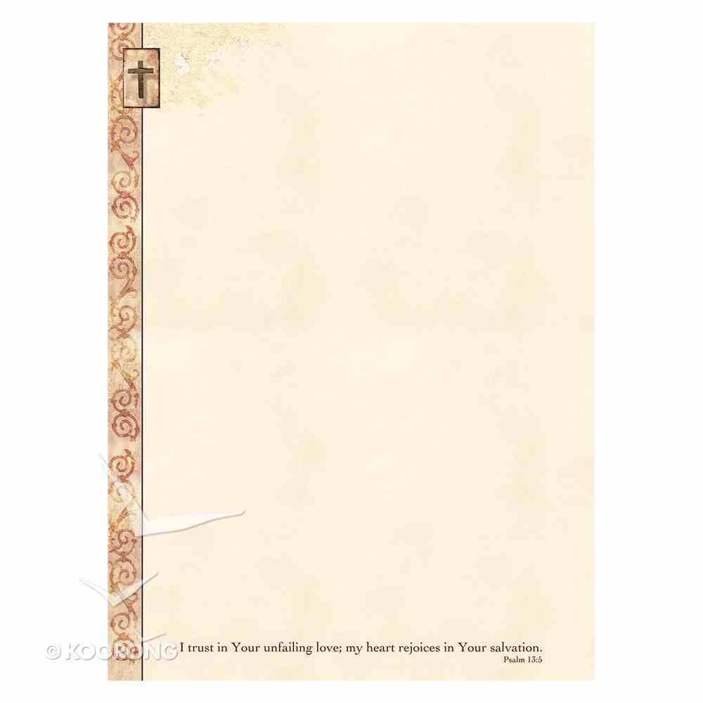 Writing Paper: Cross Psalm 13:5 Stationery