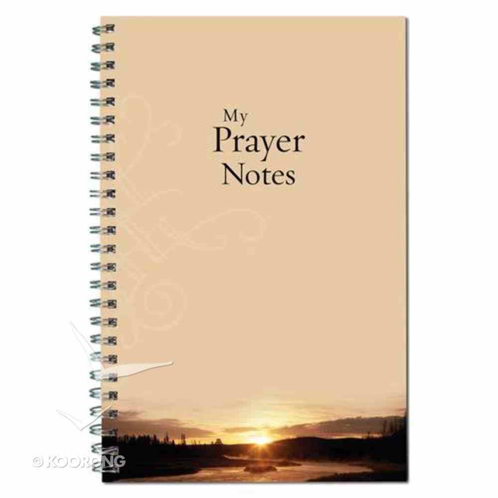 Spiral Notebook: My Prayer Notes Sunset Spiral