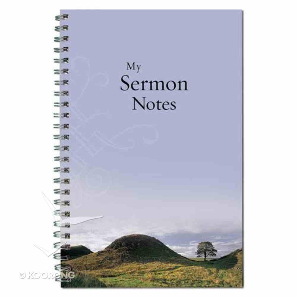 Spiral Notebook: Sermon Notebook (Mountain/tree/blue) Spiral