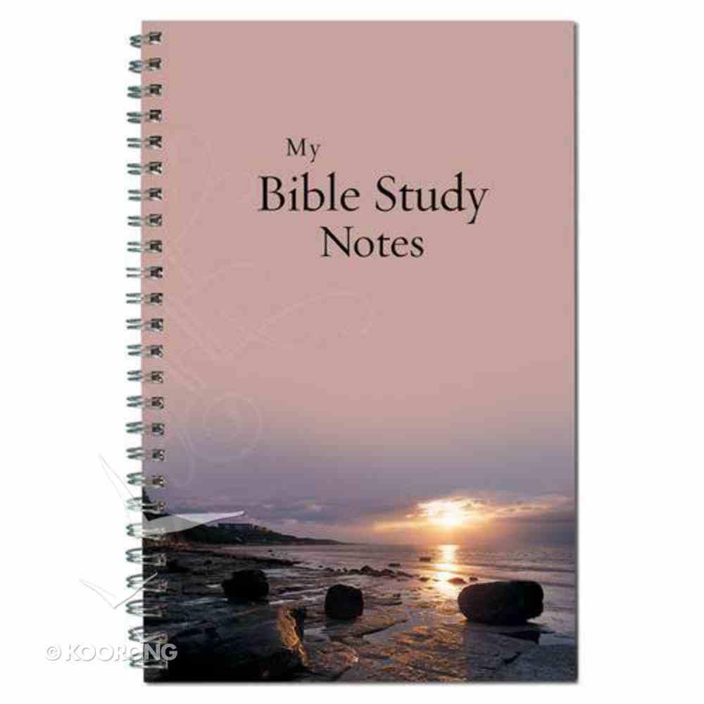 Spiral Notebook: My Bible Study Notes Sunset Spiral