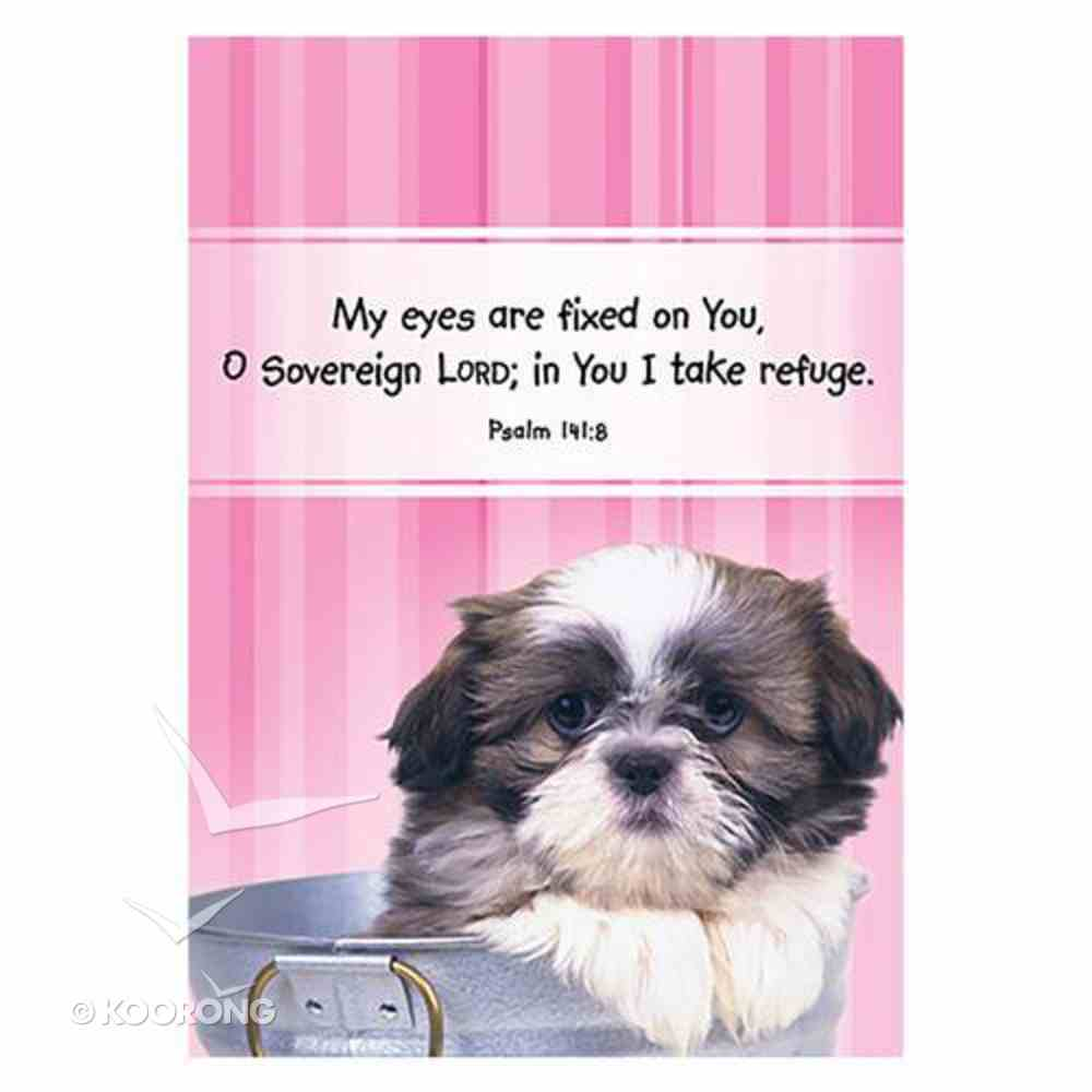 Notepad: My Eyes Are Fixed on You, (Psalm 141:8) (Pink) Stationery