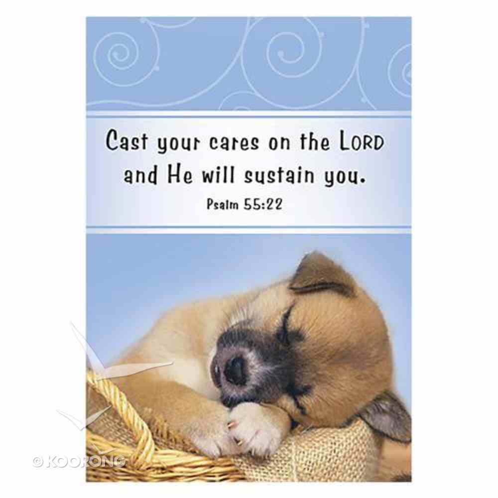 Notepad: Cast Your Cares on the Lord (Psalm 55:22) Stationery