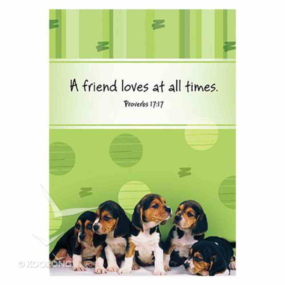 Notepad: A Friend Loves At All Times (Prov 17:17) Stationery