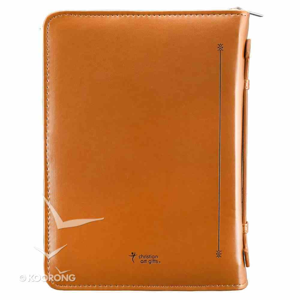 Bible Cover John 3: 16 Tan Large Two-Tone Luxleather Imitation Leather