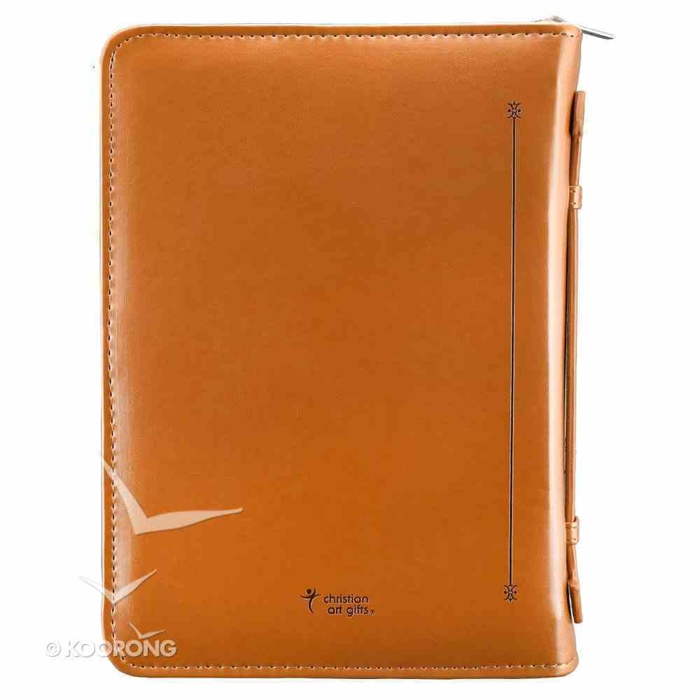 Bible Cover John 3: 16 Tan Medium Two-Tone Luxleather Imitation Leather