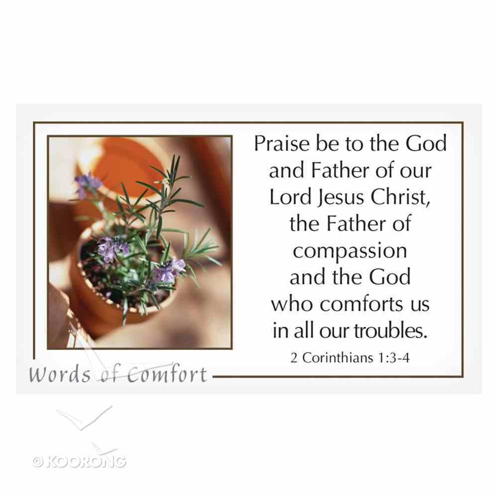Faithbuilders: Words of Comfort, Pack of 20 Cards (5 Each Of 4 Designs) Cards