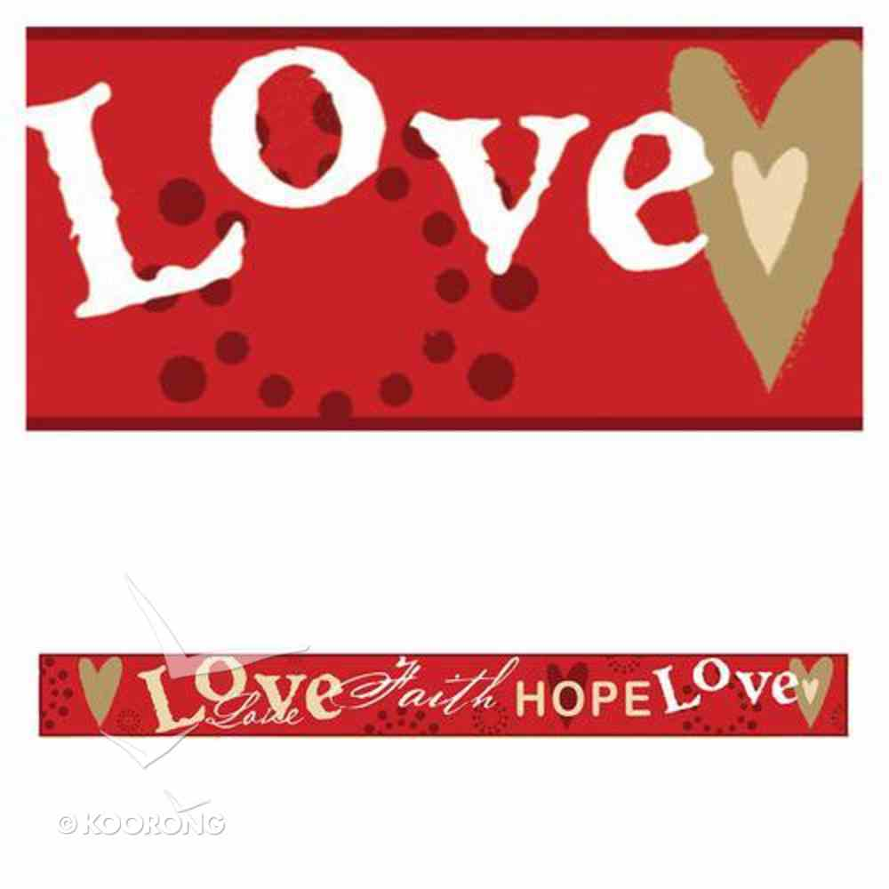 Magnet Strip: Love, Faith, Hope Novelty