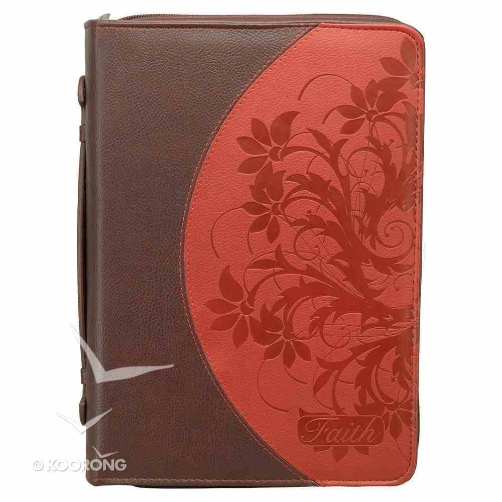 Bible Cover Mahogany/Red Large Fashion Trendy Luxleather Imitation Leather