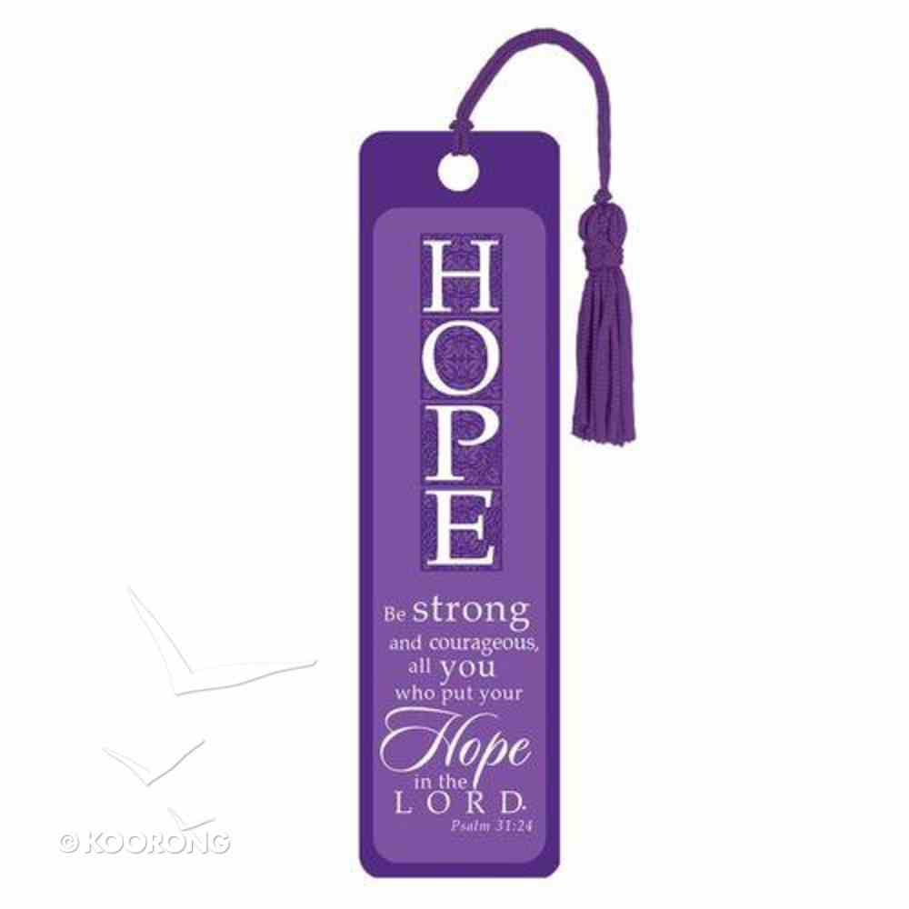 Bookmark With Tassel: Hope (Silver Foiled) Stationery