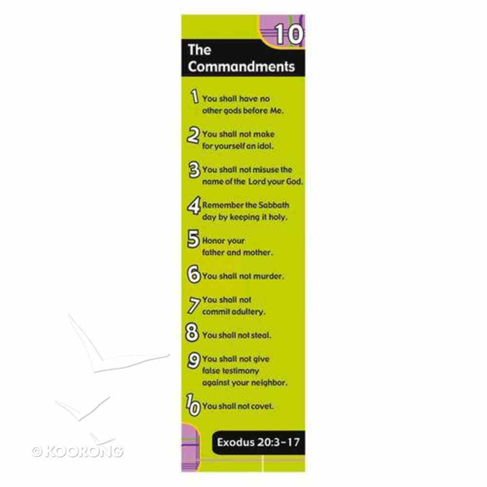 Bookmark: The 10 Commandments (Pack Of 10) Stationery