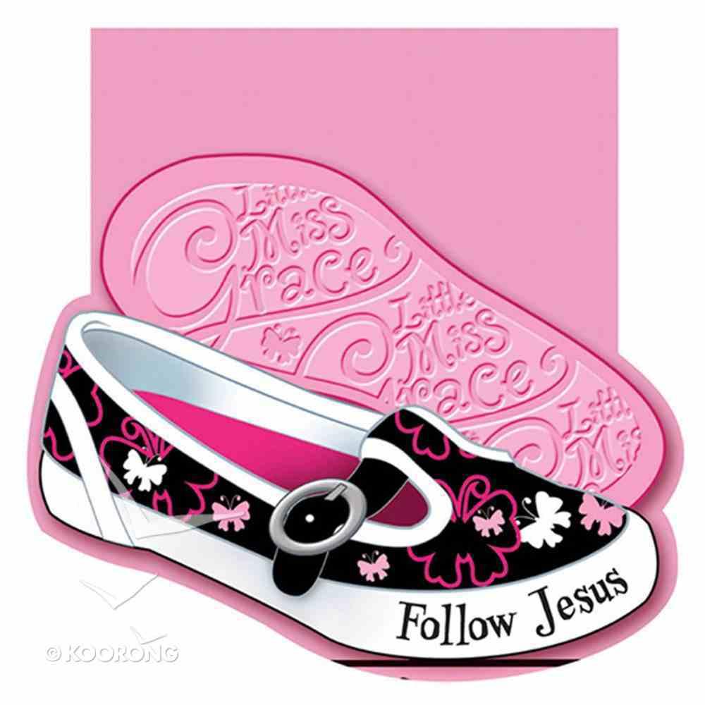 Notepad Die-Cut: Little Miss Grace Follow Jesus Stationery