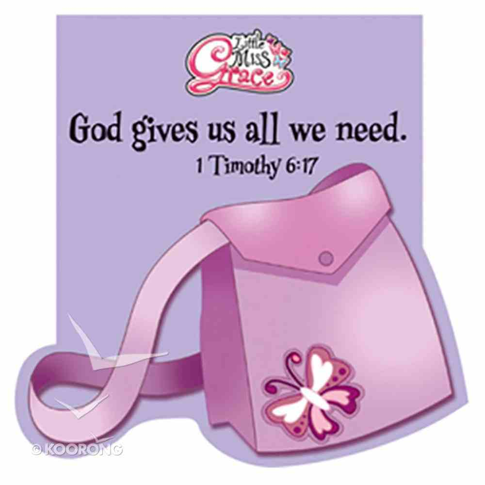 Notepad Die-Cut: Little Miss Grace God Gives Us All We Need Stationery