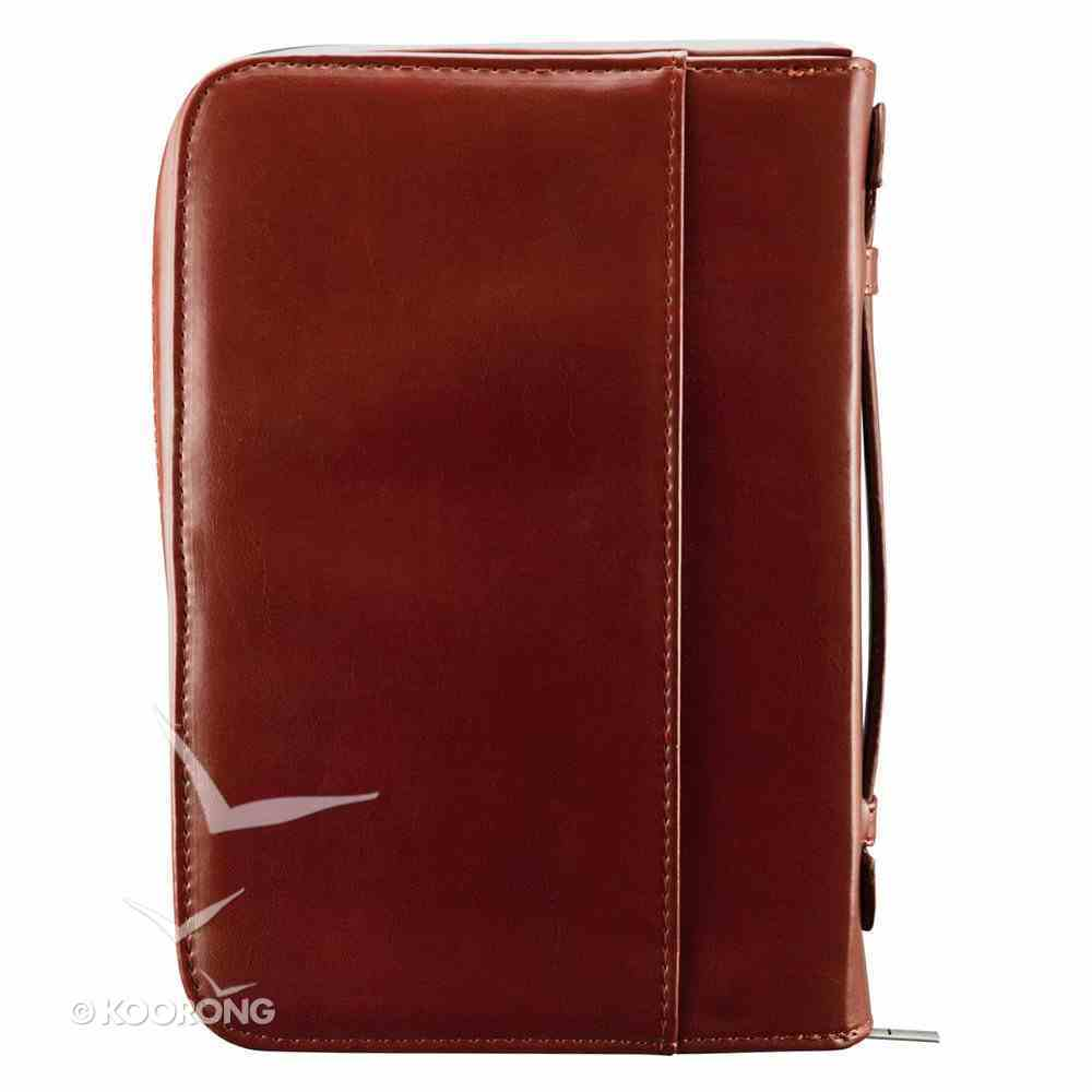Bible Cover Classic Large: Names of Jesus Burgundy Imitation Leather
