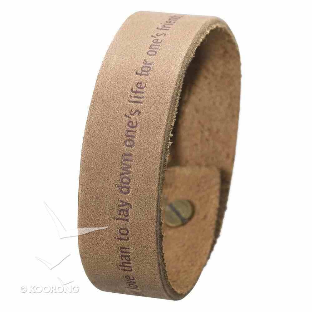 Witness Gear Leather Wriststrap: John 15:13 Jewellery