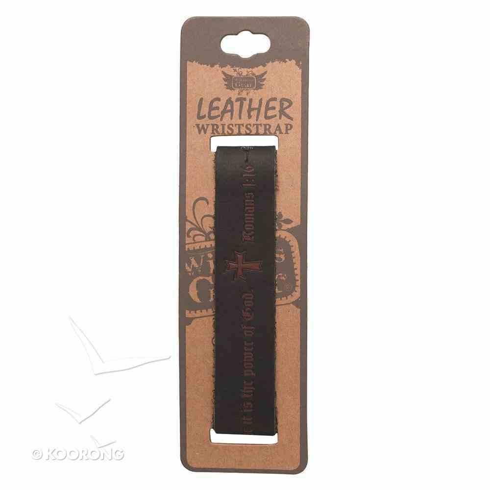 Witness Gear Leather Wriststrap: Romans 1:16 Jewellery