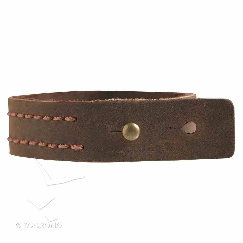 Witness Gear Leather Wriststrap: Fish Symbol Jewellery