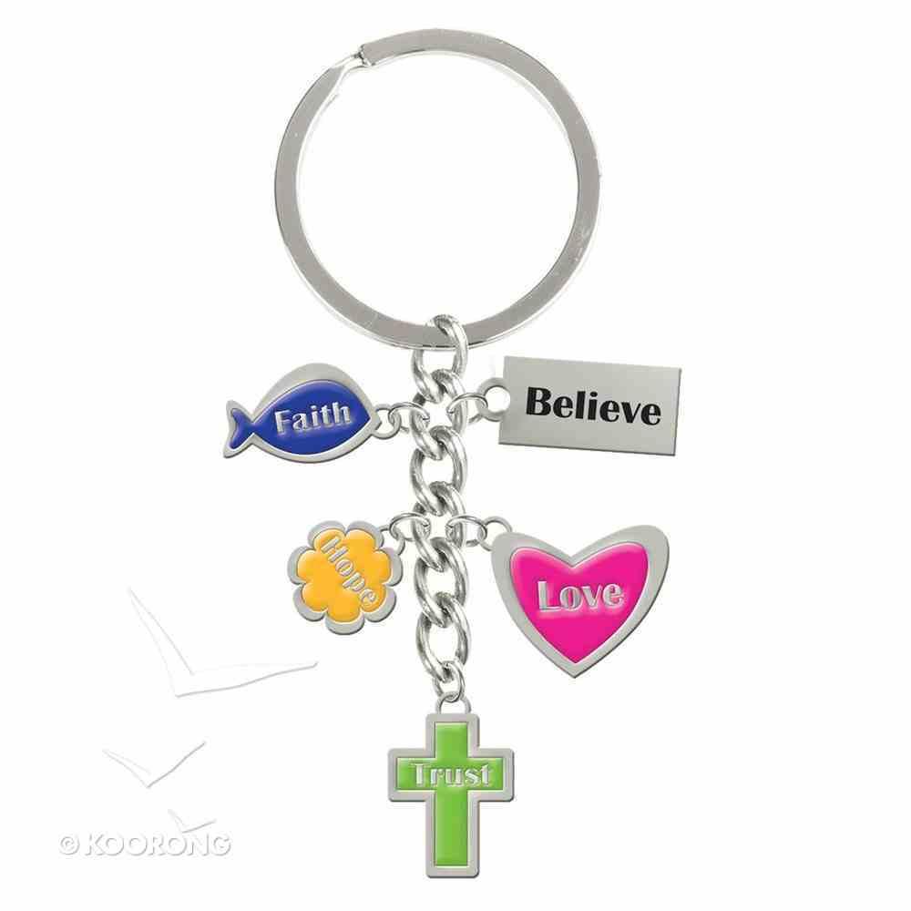 Charm Keyring: Faith, Believe, Love, Hope & Trust Jewellery