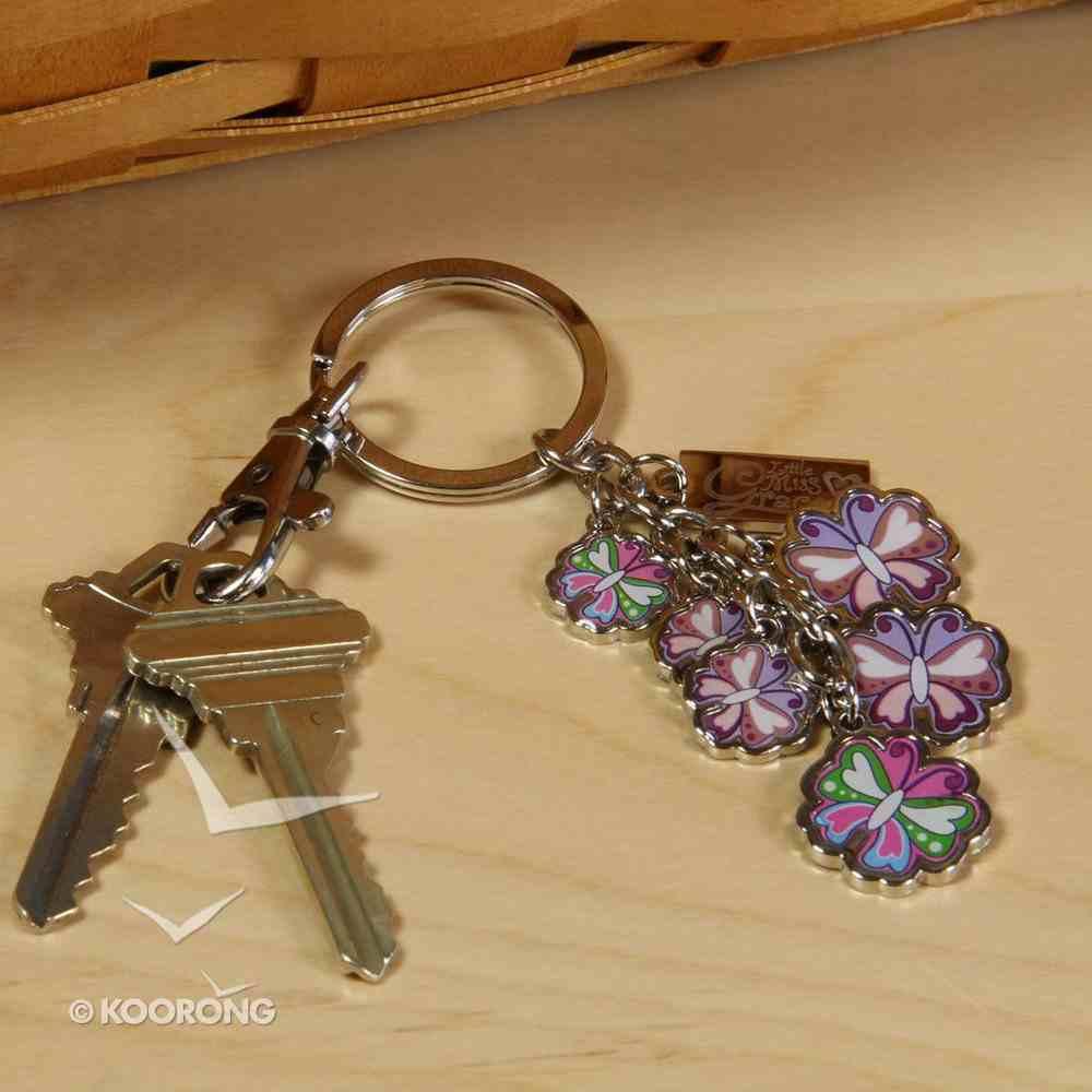 Little Miss Grace Metal Charm Keyring: Butterfly Jewellery