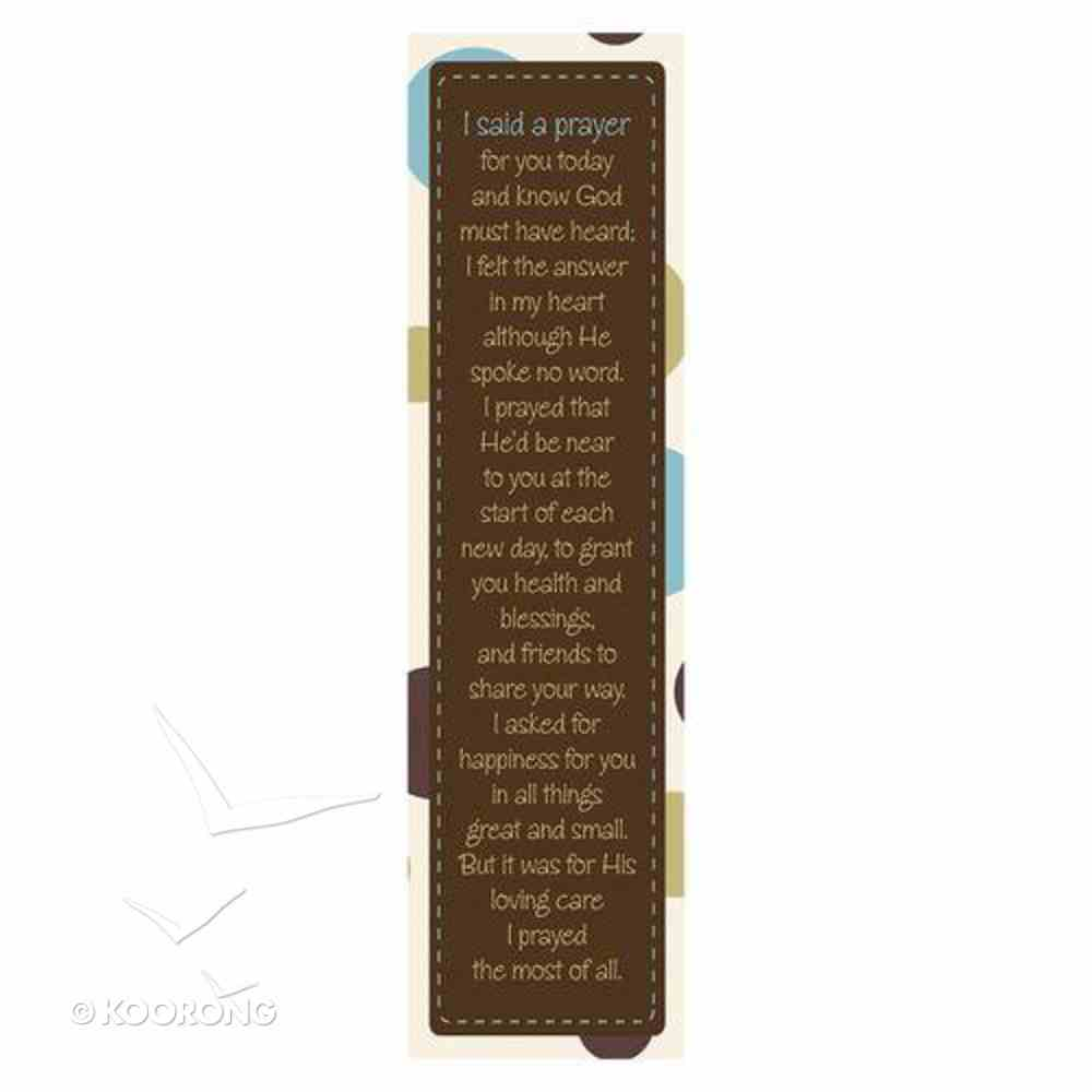 Bookmark: I Said a Prayer (Pack Of 10) Stationery
