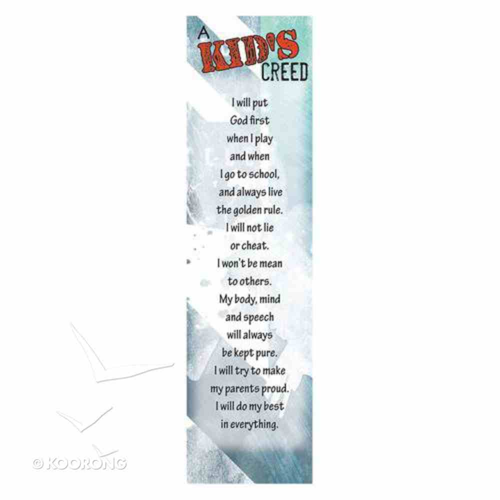 Bookmark: Kid's Creed (Pack Of 10) Stationery