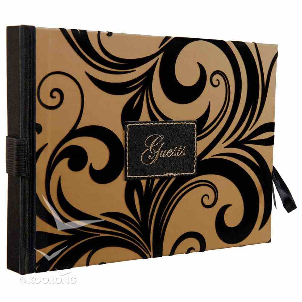 Guest Book: Guests (Velvet Finish On Cover) Stationery