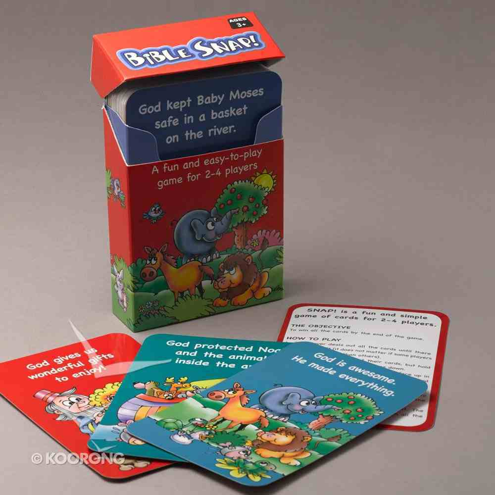 Card Games For Kids: Bible Snap (56 Playing Cards) Game