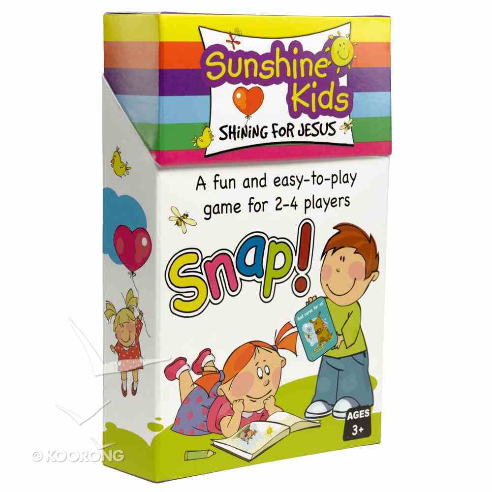 Card Games For Kids: Sunshine Kids Snap (56 Playing Cards) Game