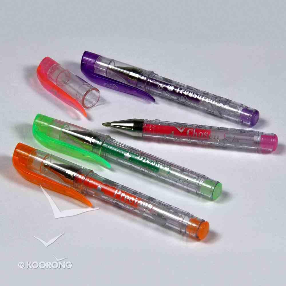 Pen: Mini Neon Gel Ink Pens, 4 Pens - Purple, Green, Pink & Orange Stationery