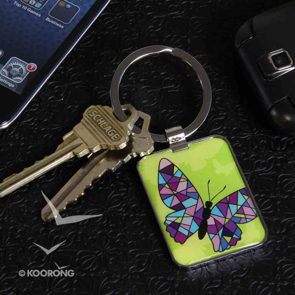 Metal Keyring: Stained Glass Butterfly Jewellery