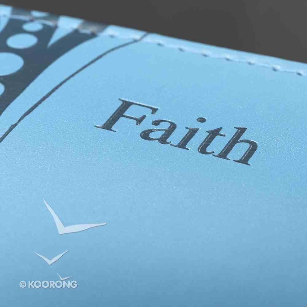 Bible Cover Faith Blue Butterfly Medium Fashion Trendy Luxleather Imitation Leather