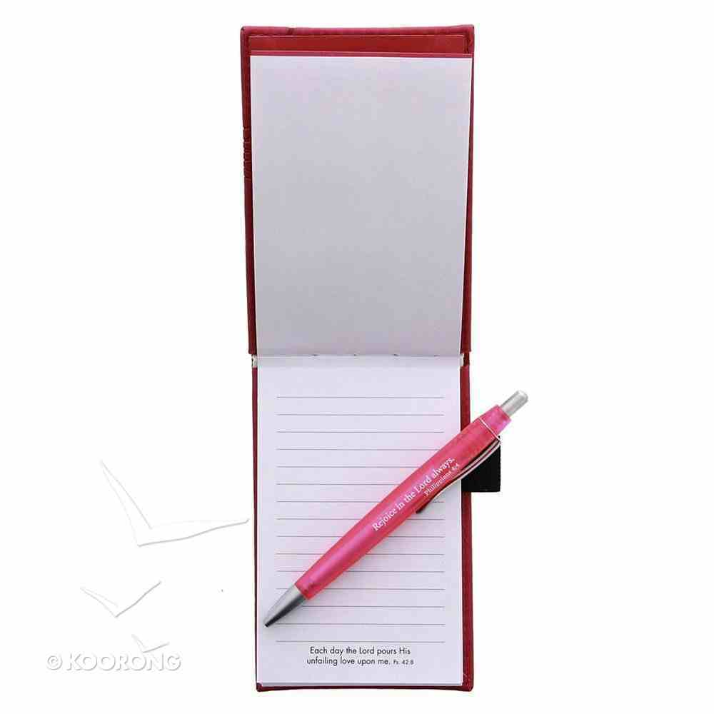 Pocket Notepad With Pen: This is the Day, Bright Pink Luxleather Imitation Leather
