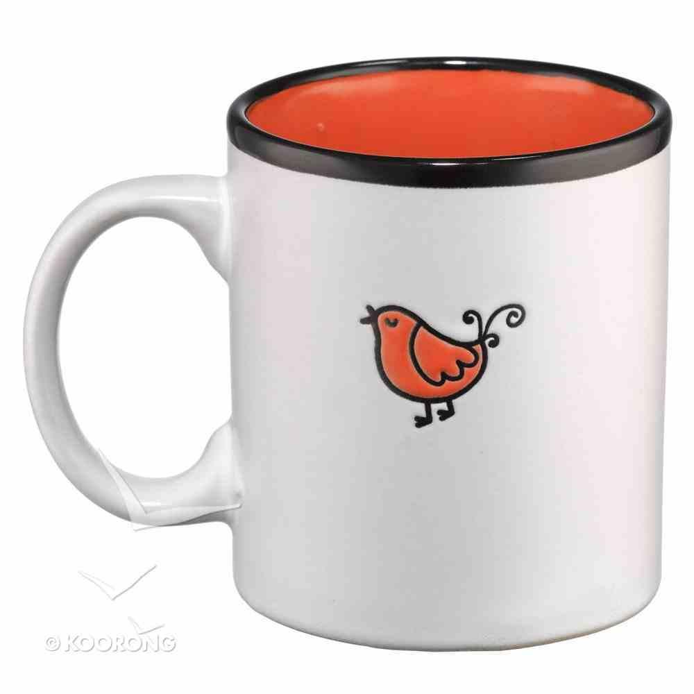 Inspirational Mug: Rejoice White/Orange Homeware