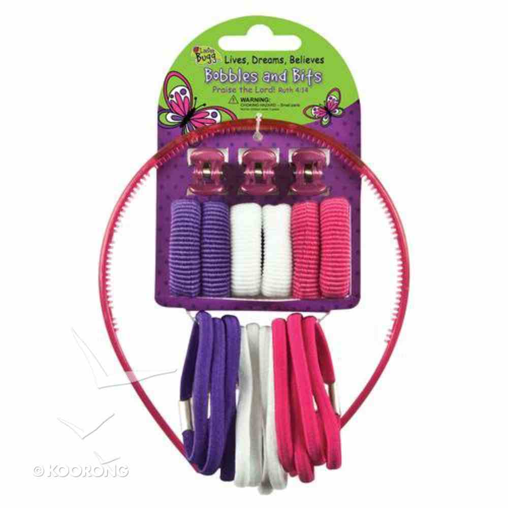 Hair Accessories: Laedee Bugg Pink, White & Purple Bobbles & Bits Novelty
