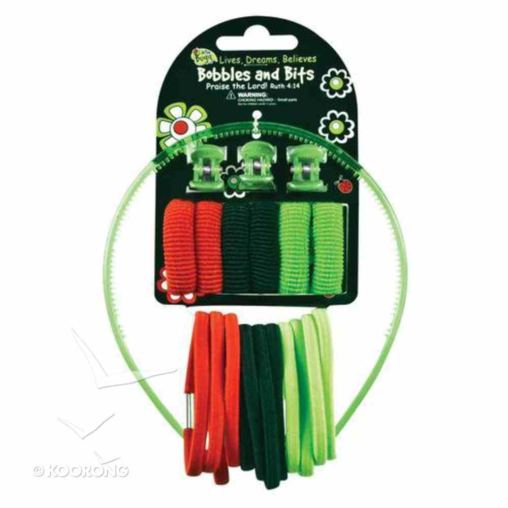 Hair Accessories: Laedee Bugg Red, Black & Green Bobbles & Bits Novelty