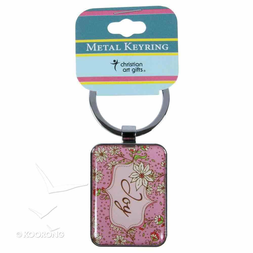 Metal Keyring: Joy Pink Jewellery