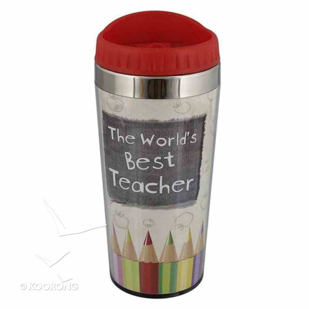 Polymer 480ml Travel Mug: The World's Best Teacher Homeware