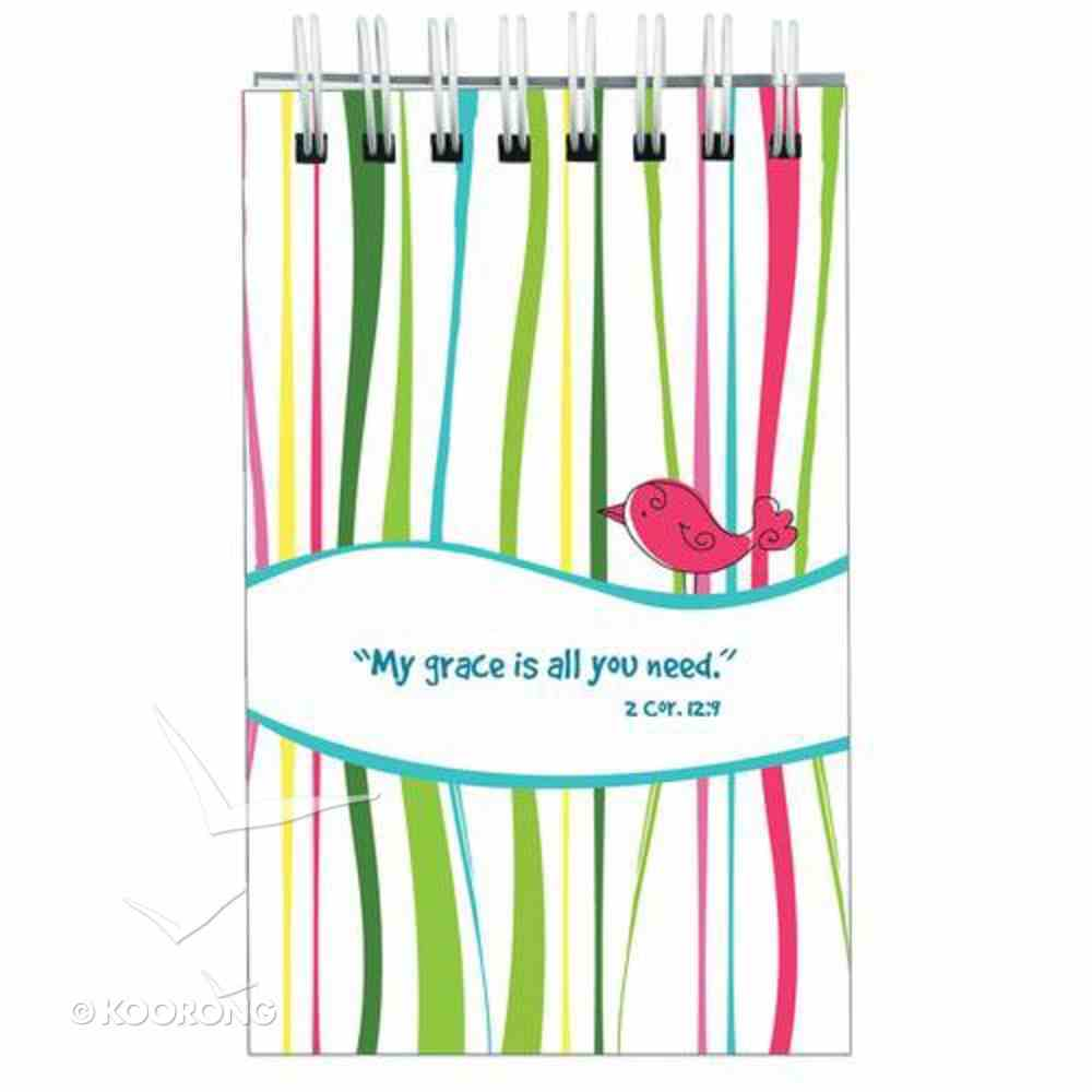 Notepad: My Grace is All You Need (Coloured Stripes) Stationery