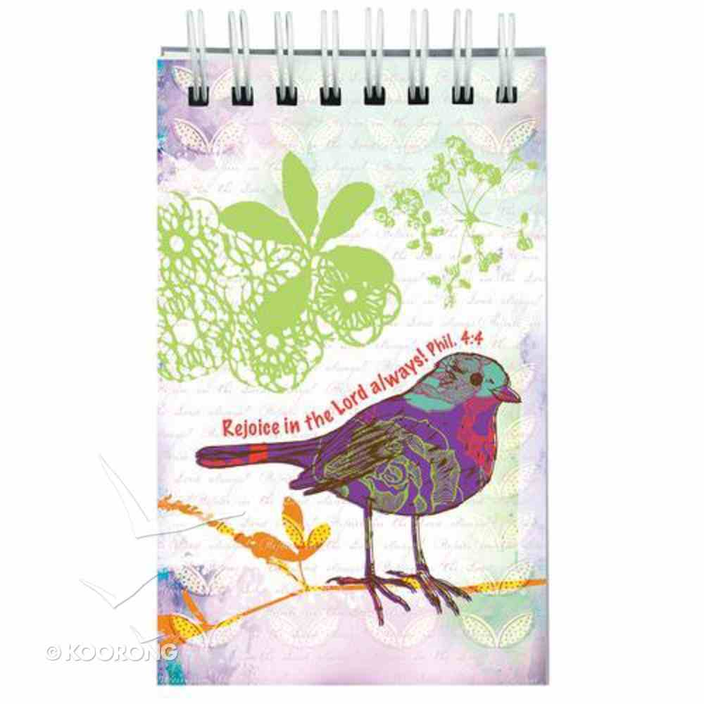 Notepad: Rejoice in the Lord Always Bird Phil 4:4 Stationery