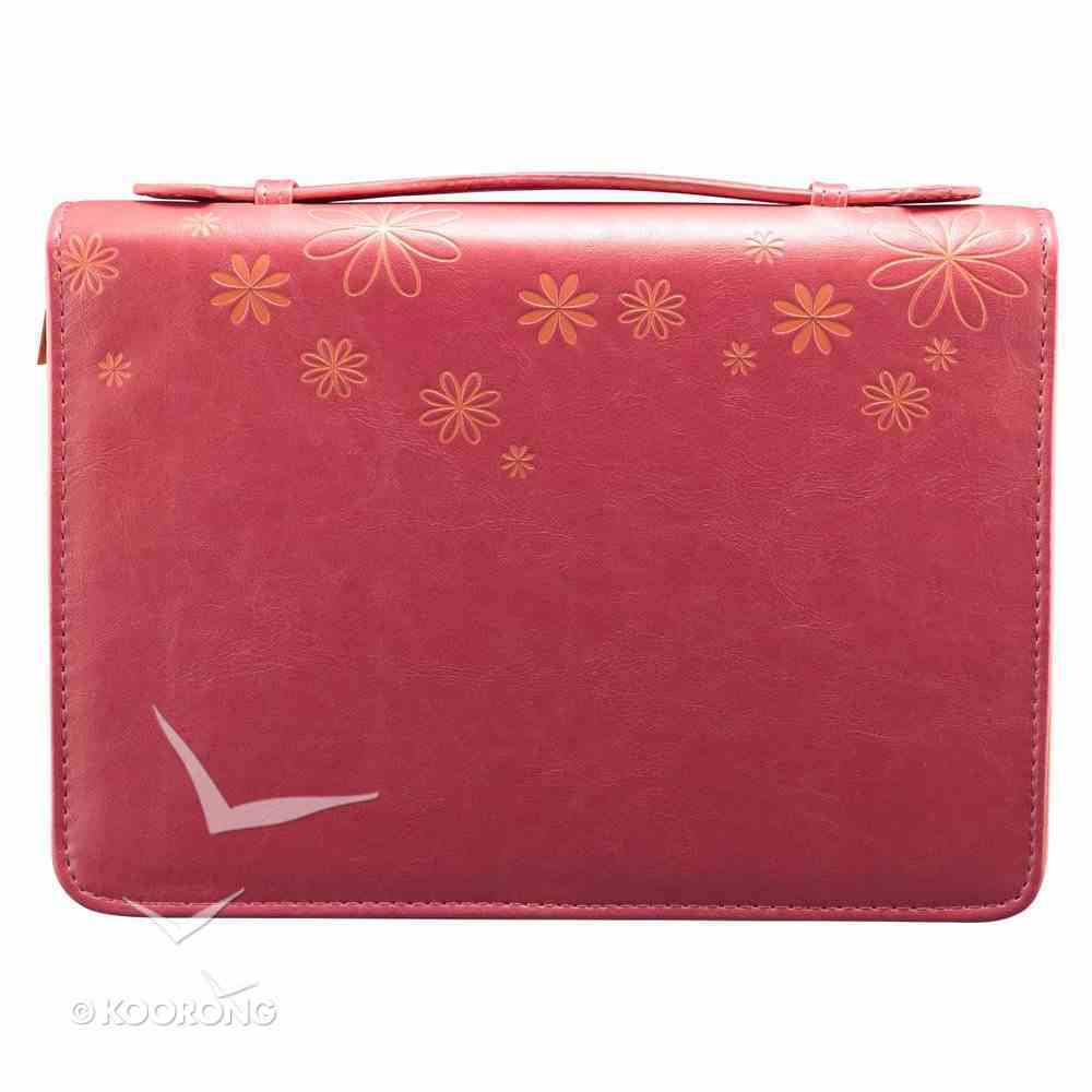 Bible Cover Pink Flower Large Fashion Trendy Luxleather Imitation Leather