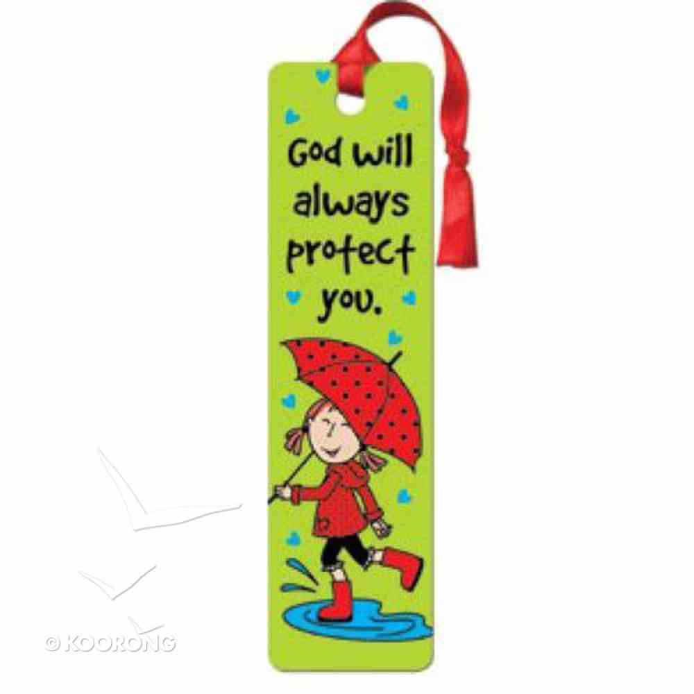 Bookmark With Tassel: Laedee Bugg - God Will Always Protect You Stationery