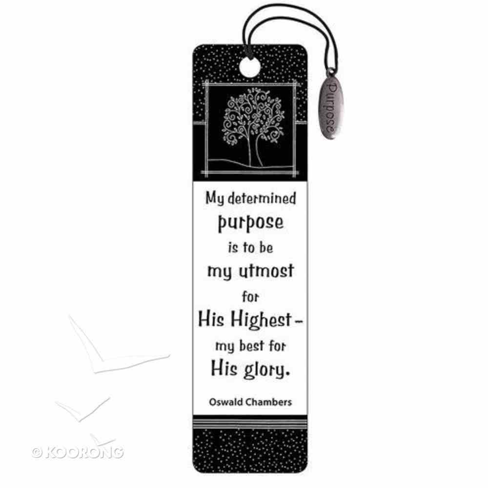 Bookmark: Purpose Charm Black and White Stationery
