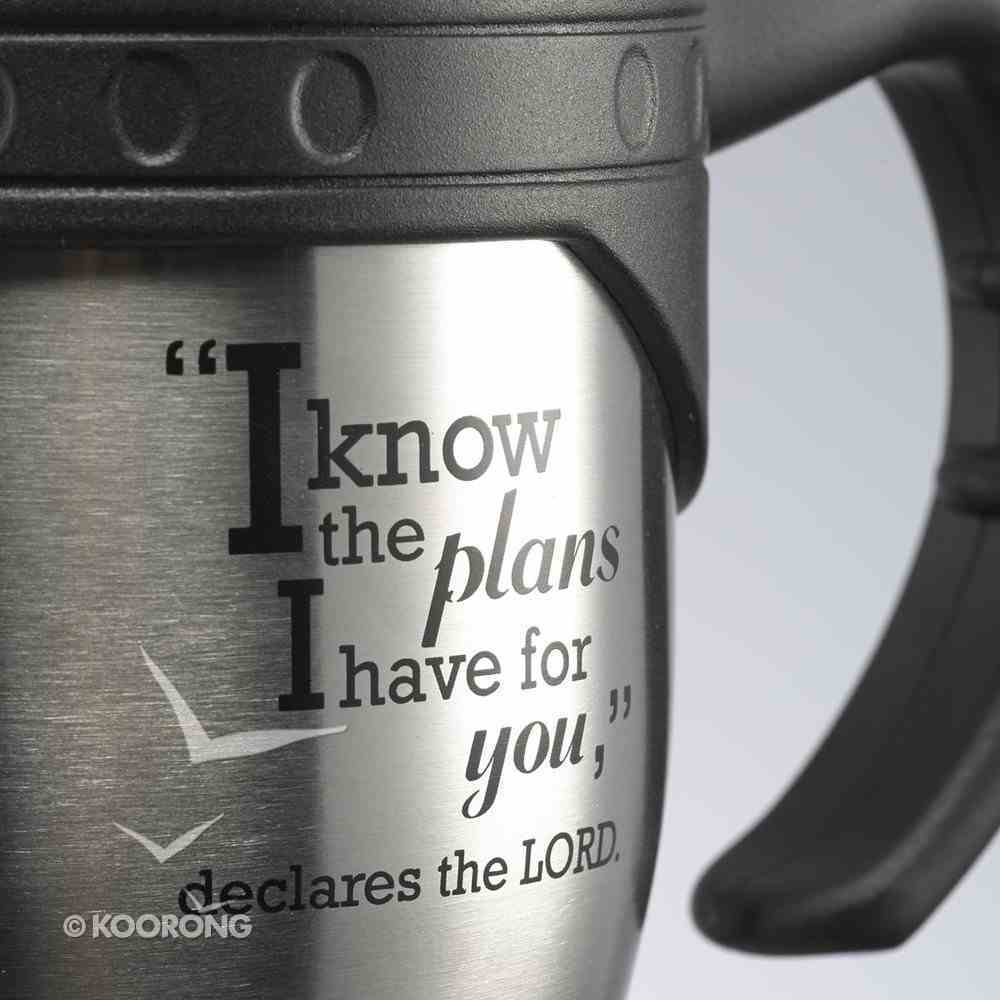 Stainless Steel Travel Mug With Handle: Jer 29:11 Homeware