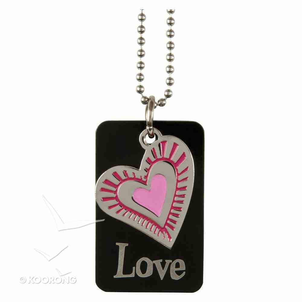 Charm Dog Tags: Love Heart Charm Jewellery