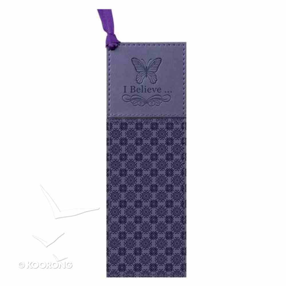 Bookmark: I Believe Butterfly Luxleather Imitation Leather