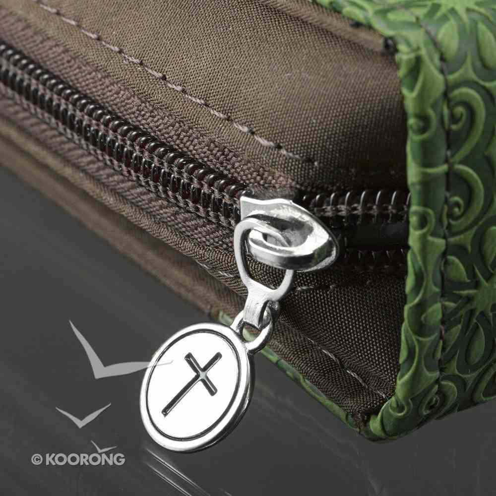 Bible Cover Green/Brown Large Luxleather Imitation Leather