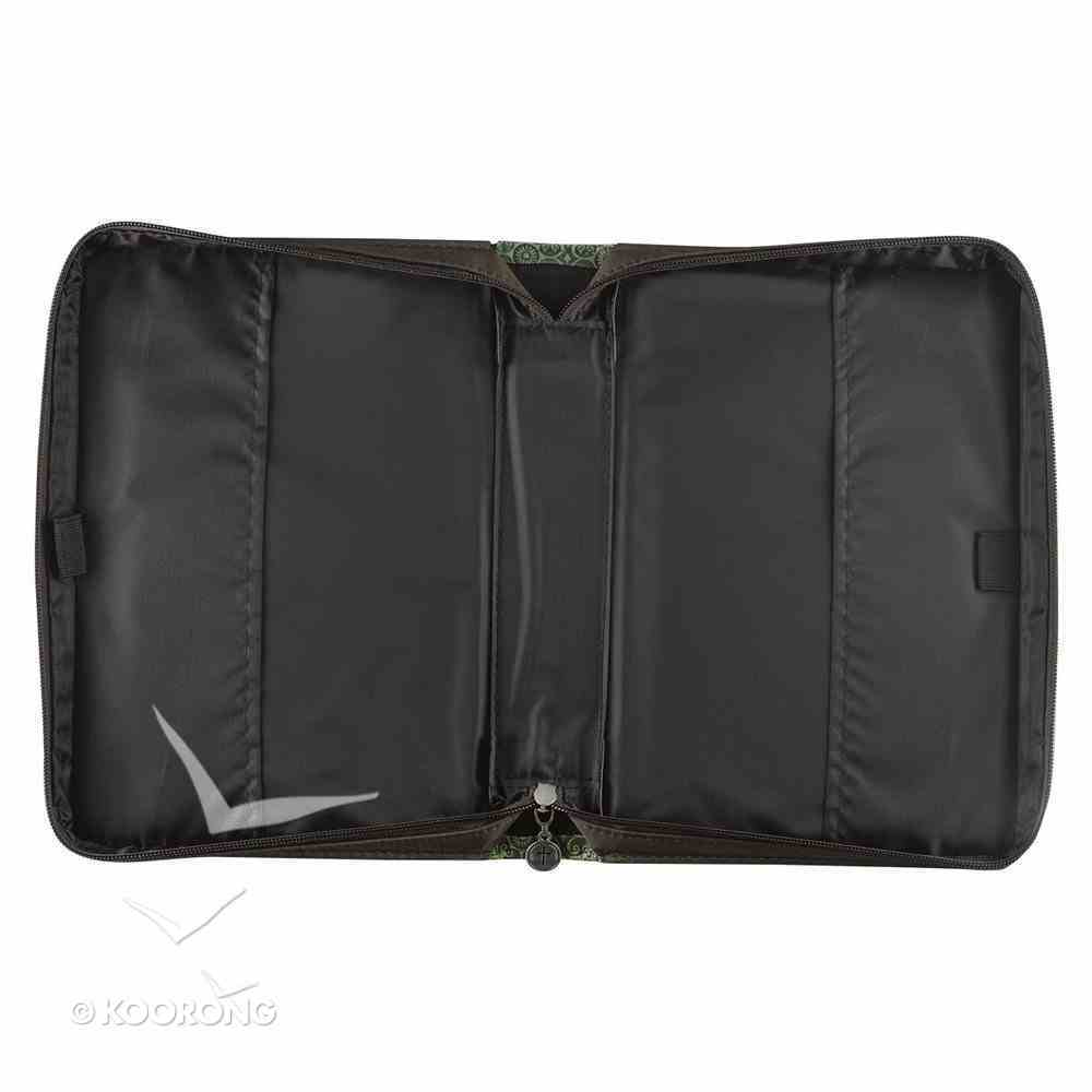 Bible Cover Green/Brown Medium Luxleather Imitation Leather