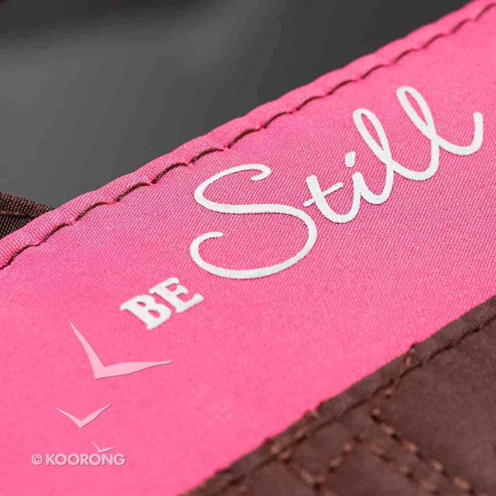 Bible Cover Micro-Fiber: Purse-Style Large Pink/Brown Bible Cover
