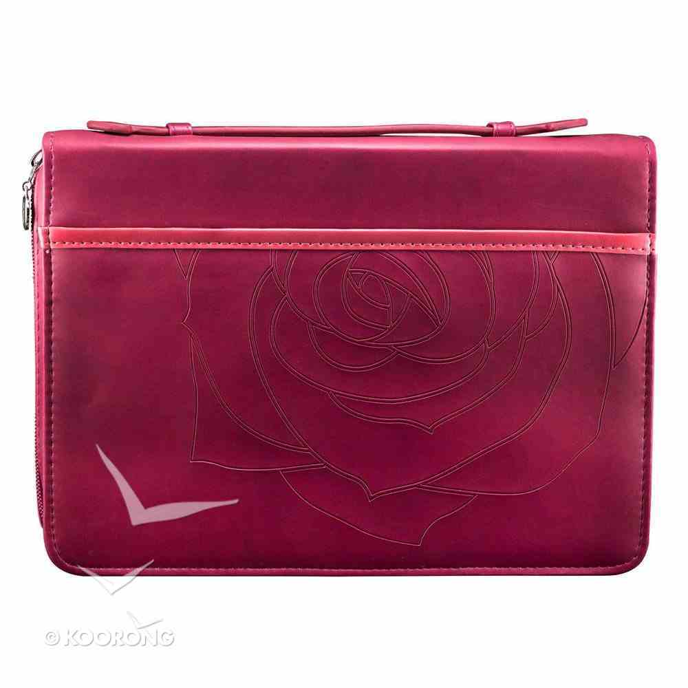 Bible Cover Pink Amazing Grace Large Luxleather Imitation Leather