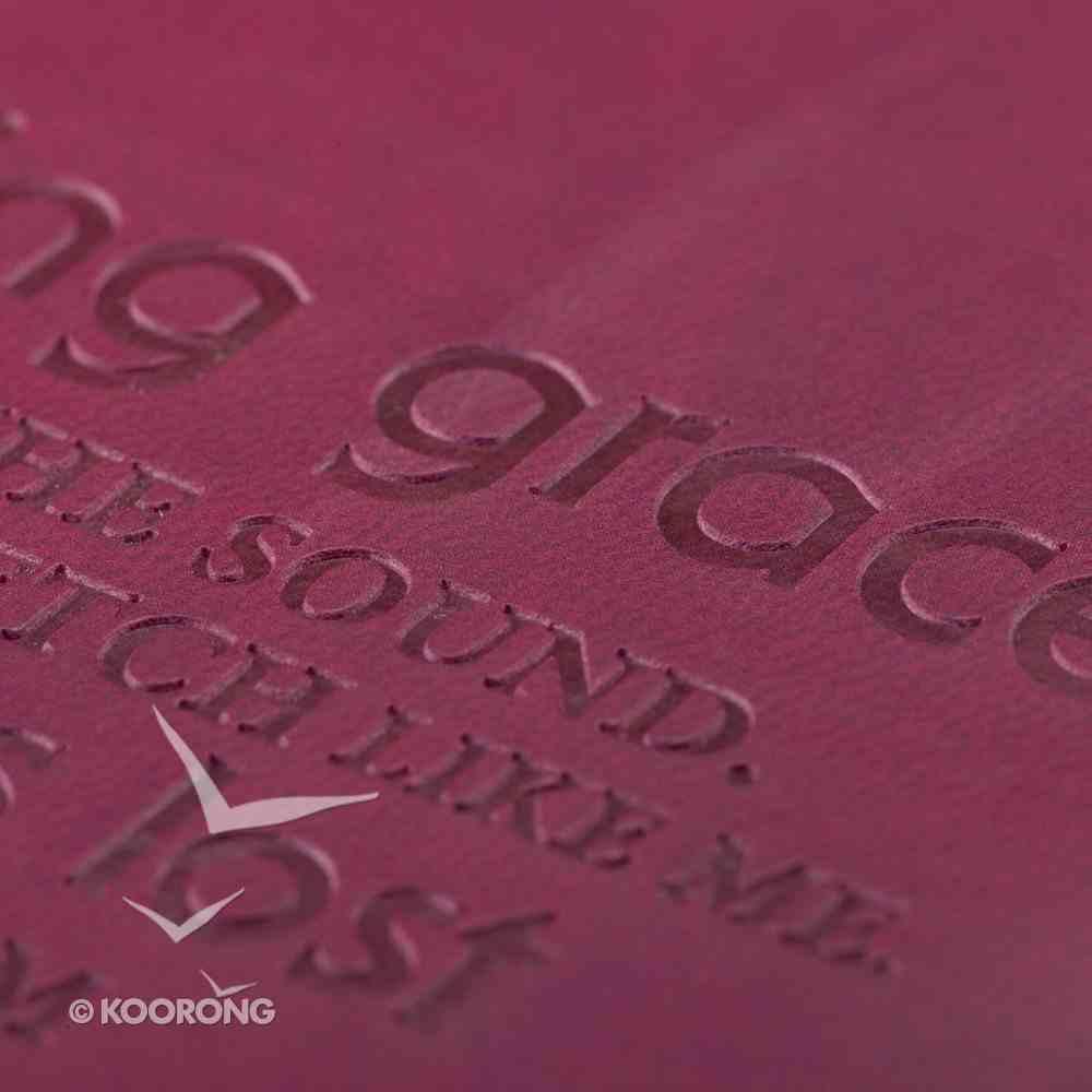 Bible Cover Pink Amazing Grace Medium Luxleather Imitation Leather